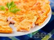 Солена палачинка с моркови и тиквени семки